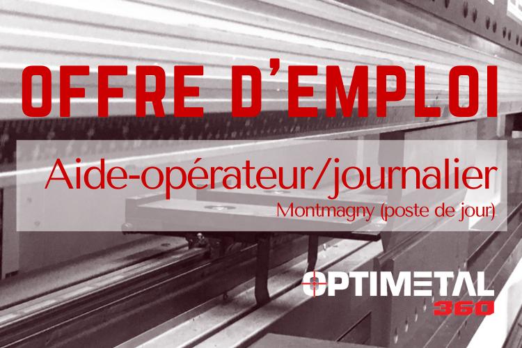 Offre d'emploi : Aide-opérateur/journalier (Montmagny/jour)