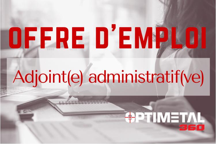 Offre d'emploi : Adjoint(e) administratif(ve)