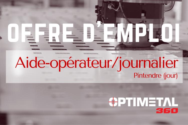 Offre d'emploi : aide-opérateur/journalier (Pintendre)