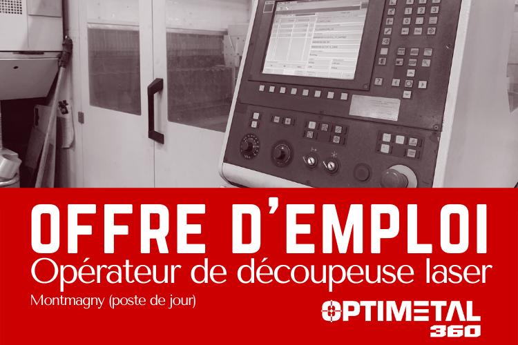 Offre d'emploi : Opérateur de découpeuse laser – 17 décembre 2020
